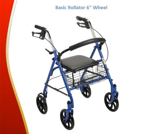 "Basic Rollator 6"" Wheel"