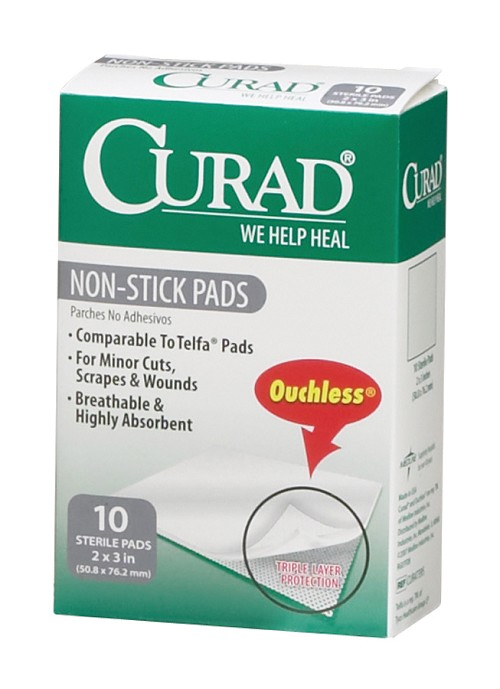 CURAD Ouchless Non-Stick Pad