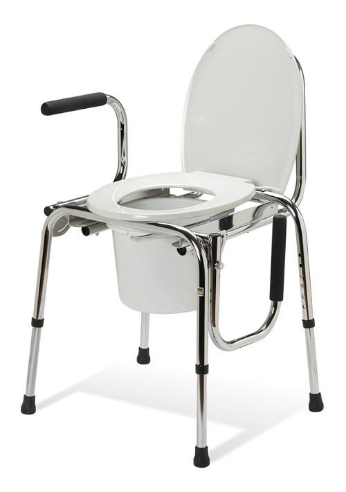 Non-Padded Drop Arm Commode