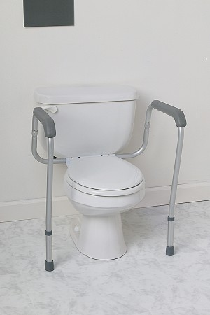 Foldable Toilet Safety Rails