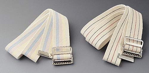 "Transfer Belt(s) w/ Buckle, 60"", Blue and Red Stripes (Case of 6)"