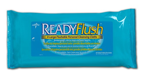 "ReadyFlush Scented Wipes, 9""x13"", 24/pk (case of 24 pks)"