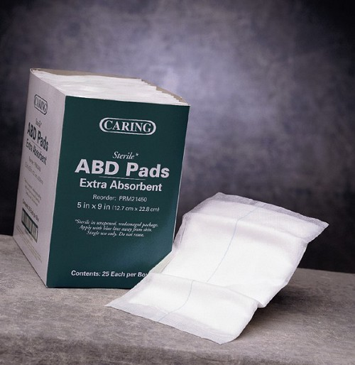 Caring ABD/Combine Pads (5x9in)