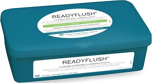 "ReadyFlush Scented Wipes, 9""x13"", 60/tub (case of 9 tubs)"