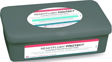 "ReadyFlush Dimethicone Wipes, 9""x13"", 60/tub (case of 9 tubs)"