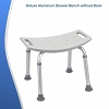 Deluxe Aluminum Backless Shower Bench