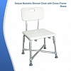Deluxe Bariatric Shower Chair With Cross Frame Brace