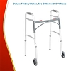 Deluxe Folding Walker, 2 Button, 5