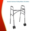Bariatric Aluminum Folding Walker, 2 Button