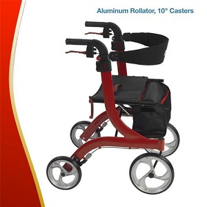 "Aluminum Rollator, Tall Height, 10"" Casters"